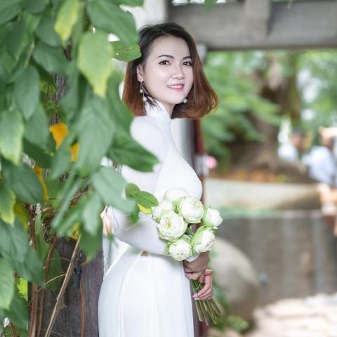 Chụp hình áo dài tại Tu Viện Khánh An Quận 12