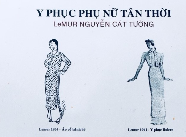 Áo dài Lemour của nhà may Cát Tường Hà Nội ngày nay