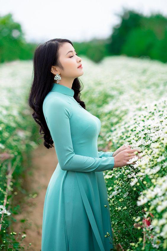 áo dài xanh ngọc bích cực đẹp giá rẻ